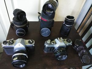 Vintage cameras and lenses for Sale in Boca Raton, FL