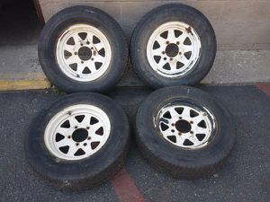 15 in steel wheels. 5 on 5.5 lugs, Dodge, Ford, Jeep, Samurai, Tracker for Sale in Montebello, CA