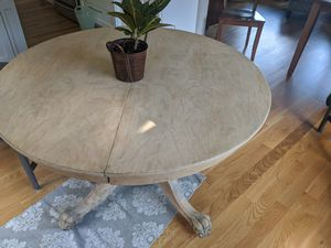 Antique Claw Foot expandable table with expansion boards for Sale in Acton, MA
