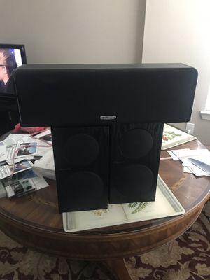 Pioneer SP-BS21-LR Bookshelf Speakers (Pair) with Polk Audio CS10 Center Channel Speaker System - Black for Sale in Austin, TX