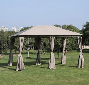 SHIPPING ONLY 13' x 10' Steel Outdoor Gazebo Canopy Tent w/Curtains for Sale in Las Vegas, NV