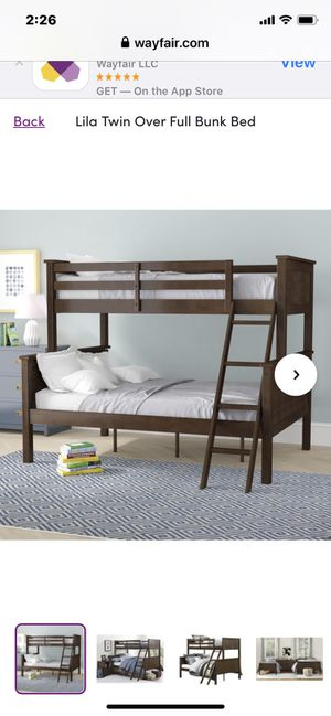 Used bunk bed frame full size bottom twin top for Sale in Covina, CA