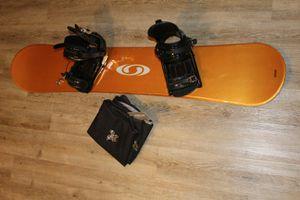 Salomon Snowboard / K2 Cinch Bindings / Ride Snowboard Bag for Sale in Gardnerville, NV