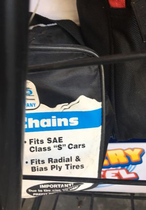 Car chains bran new never opened SaE class c tires for Sale in Hesperia, CA