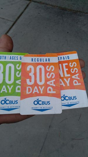 Bus passes 30 days for Sale in Santa Ana, CA