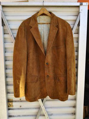 "Vintage. Leather jacket size 42 men's 1950's. "" have stained inside. "" for Sale in Denver, CO"