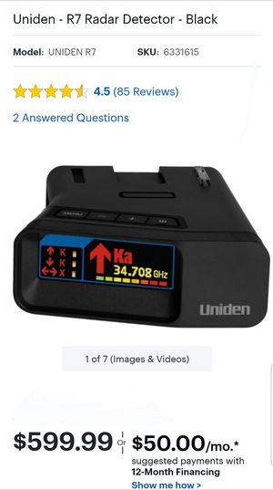 Uniden R7 Radar Detector with Arrows for Sale in Wheeling, IL