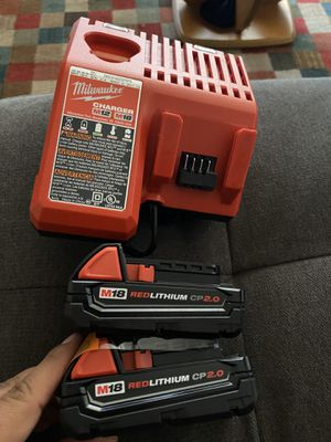 Milwaukee M12/M18 Charger & (2) Cp2.0 Ah Battery New for Sale in San Diego, CA