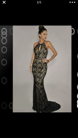 Size XS nude and black lace formal dress for Sale in Spartanburg, SC