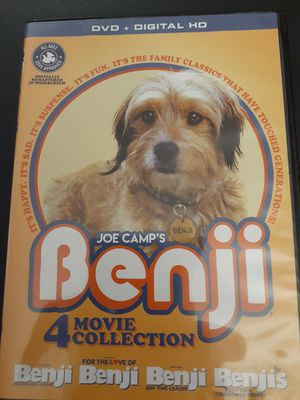 Joe Camp's BENJI 4-Movie Collection (DVD) for Sale in Lewisville, TX