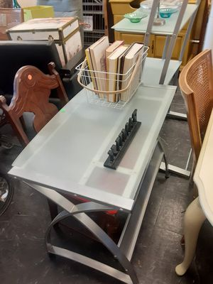 Nice smoke glass desk for Sale in Cleveland, OH
