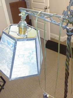 This Is An Antique Lamp With Geographic Map for Sale in Pittsburgh,  PA