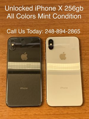 SALE: Unlocked iPhone X 256gb Used All Colors Excellent Condition for Sale in Royal Oak, MI