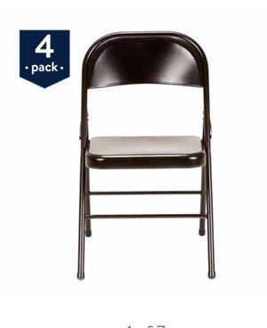 1-4pk black folding chairs for Sale in Phoenix, AZ