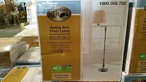 Hampton Bay Title 20 59 in. Brushed Nickel Swing-Arm Floor Lamp for Sale in Phoenix, AZ