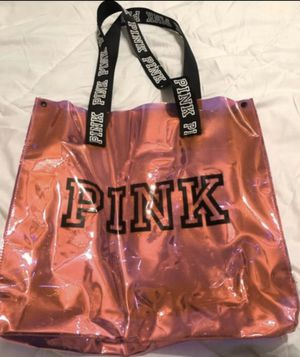 VICTORIA SECRET PINK IRIDESCENT CLEAR BAG for Sale in Palmdale, CA
