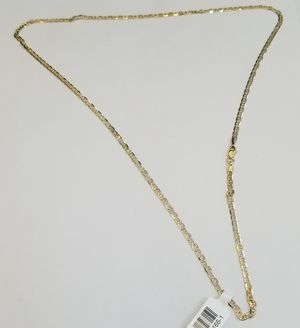 10K White & Yellow Gold Gucci Chain 24' for Sale in San Diego, CA