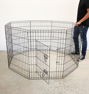 """New $40 Foldable 36"""" Tall x 24"""" Wide x 8-Panel Pet Playpen Dog Crate Metal Fence Exercise Cage for Sale in South El Monte, CA"""