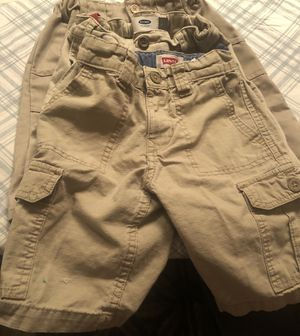 4 Khaki School Ready Toddler Shorts-Polo Club/Old Navy/Levi's - Size 6/7 for Sale in Ellenwood, GA