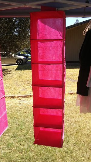 6 cubby hanging closet organisers. for Sale in Stockton, CA