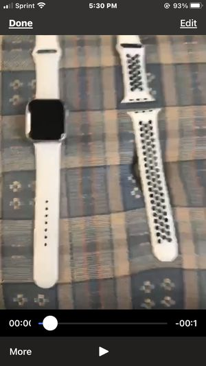 Apple Watch series 5 44mm w/GPS and LTE. Aluminum with extra Nike Band for Sale in Southgate, MI