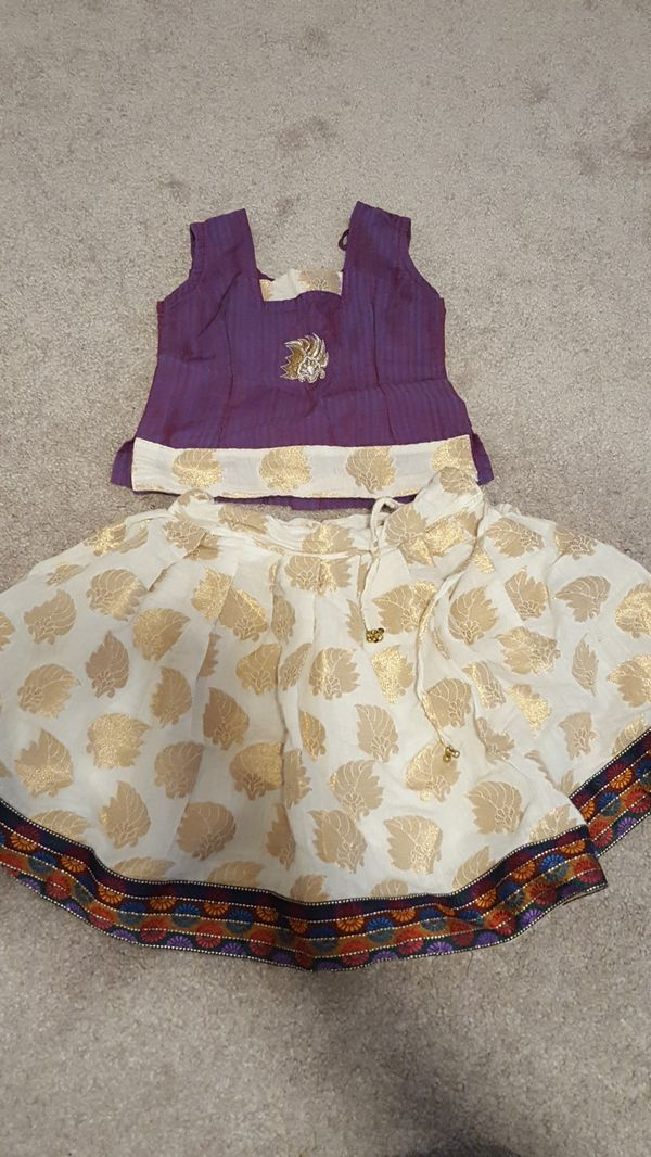 6-12 months old baby girl Indian blouse and skirt