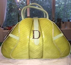 Authentic Christian Dior Patent Bowler Bag for Sale in Rockville, MD