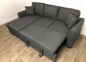 FREE DELIVERY THIS WEEKEND ONLY - BRAND NEW IN SEALED BOX SOFA BED SLEEPER SECTIONAL COUCH WITH STORAGE for Sale in Chino Hills, CA