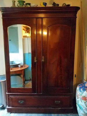 Antique mahogany armoire for Sale in Miami, FL