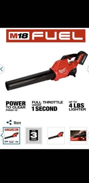 Milwaukee m18 fuel blower for Sale in West Covina, CA