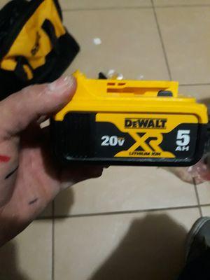 Dewalt baterry 5.0 for Sale in Fullerton, CA