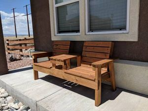 New Cedar Two Person Bench -Delivery Available for Sale in Peyton, CO