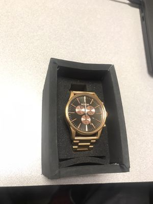 Nixon Sentry Chronograph Rose Gold Watch NICE!!!! for Sale in Baltimore, MD