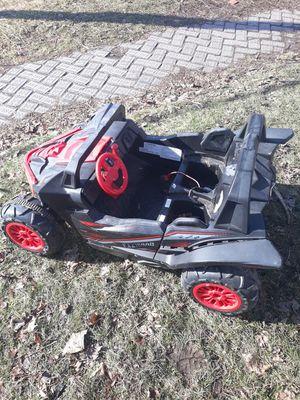 Little kid car takes a lawn mower battery close a little bit fast for Sale in Lansing, MI