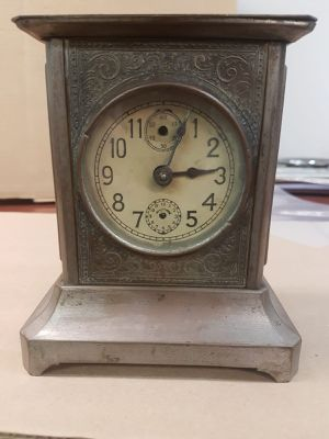 Vintage Antique Carriage China Clock With Key Working. (B10) for Sale in Ontario, CA