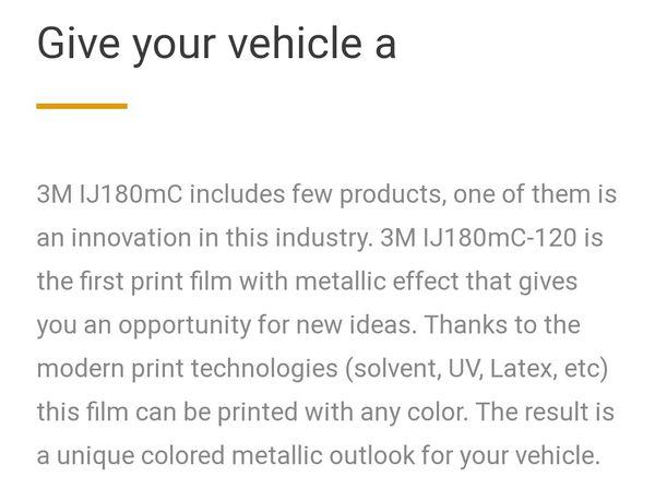 3M SILVER METALLIC CAR WRAP.