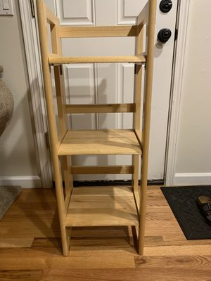 Solid Wood 3-Tier Collapsible Shelf for Sale in Aloha, OR