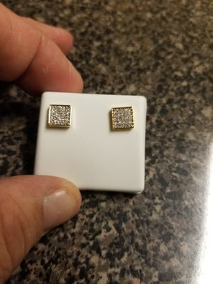 Unisex diamond earrings for Sale in The Bronx, NY