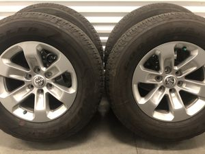 Dodge Ram 1500 2020 wheels and tires Goodyear wrangler 275/65/18 for Sale in Miami, FL