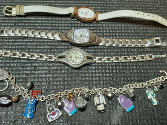 Charm Bracelet In Three Ladies Watches for Sale in Hillsboro,  OR