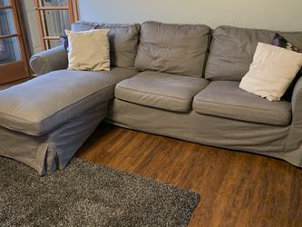 IKEA Loveseat / Couch With Chaise for Sale in Coraopolis,  PA