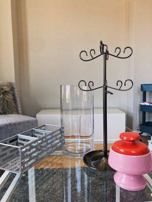 Large Crystal Vase, Jewellry holder, Desk organizer and Sugar holder for Sale in Arlington, VA