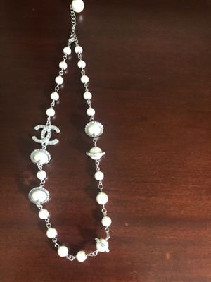 Chanel silver charm necklace for Sale in Laguna Niguel, CA