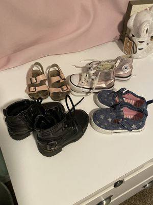 Girls shoes (size 5), boots, converse, old navy Birkenstock's READ DESCRIPTION FOR PRICES for Sale in Gilbert, AZ
