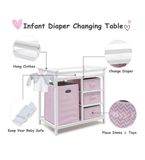 Diaper changing table for Sale in Dallas, TX