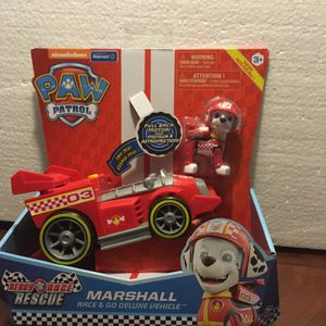 PAW Patrol, Ready, Race, Rescue Marshall's Race & Go Deluxe Vehicle with Sounds, for Kids Aged 3 and Up for Sale in Queen Creek, AZ