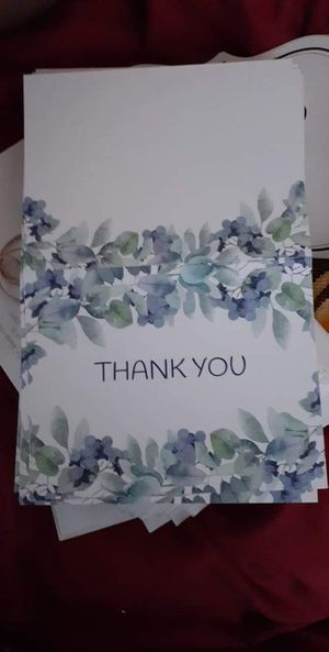 Thank you cards for Sale in Seaford, DE