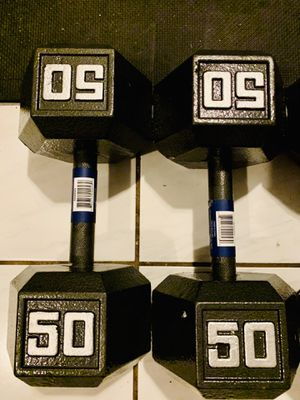 NEW STEEL 50 lb DUMBBELLS SET for Sale in Sunrise, FL