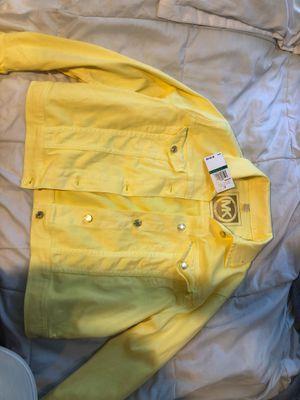 Brand new Michael Kors yellow jean jacket for Sale in Hemet, CA
