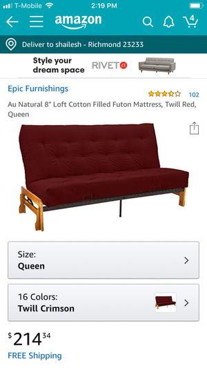 All cotton futon Queen size mattress for Sale in Richmond, VA